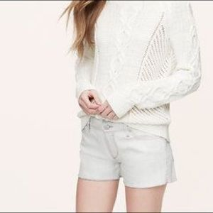 Loft Denim Cut Off Shorts in Pebble Grey